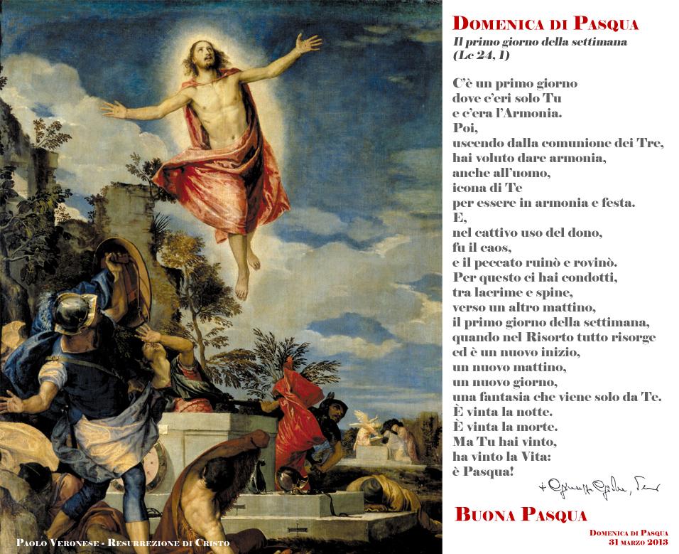 Domenica di Pasqua - Poesie del Vescovo