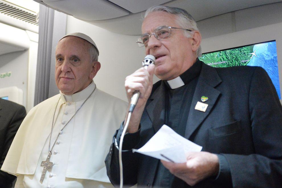 Padre Lombardi con Papa Francesco