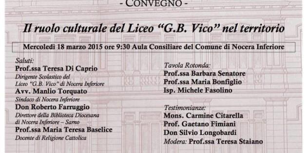 """150° Anniversario del """"G. B. Vico"""" di Nocera Inferiore"""