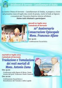 Anniversario Mons. Alfano