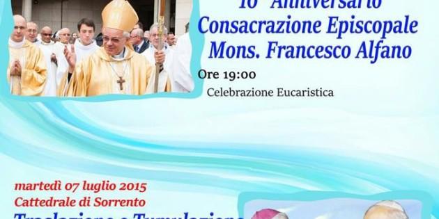 Anniversario Ordinazione Mons. Alfano
