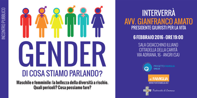 Convegno Gender: di cosa stiamo parlando?
