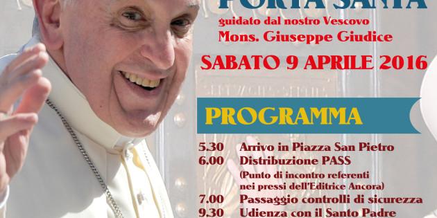 Messaggio del Vescovo ai pellegrini verso Roma