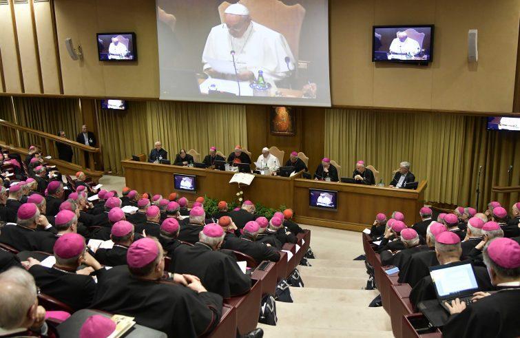 L'aula del Sinodo in Vaticano